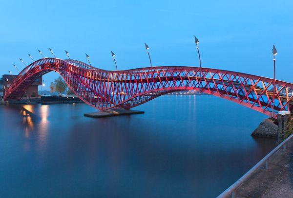 Python Bridge in Amsterdam, the Netherlands ;credit:  Alchena / shutterstock.com