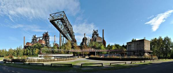 Some of the most important structures at Landschaftspark Duisburg-Nord. Credit: CC-BY-SA-3.0 by  kaʁstn Disk/Cat
