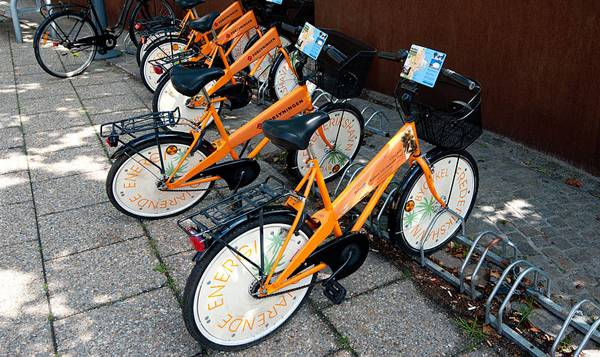 """Creative Commons A Public bicycles in Frederikshavn"". Wikimedia Commons user Heb, licensed under CC 3.0"