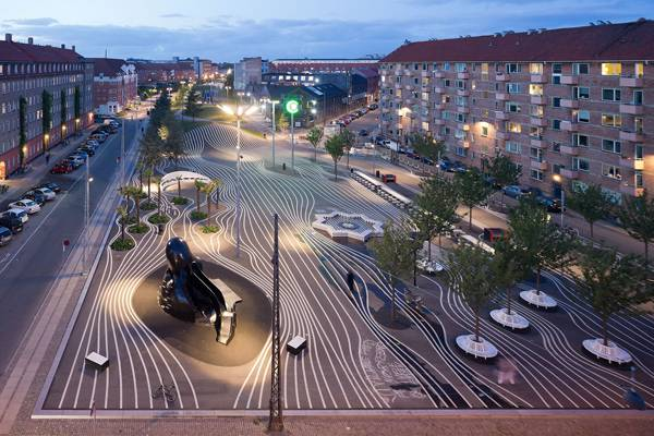 """Creative Commons BIG - Bjarke Ingels Group - SUK - Superkilen Park"". Source Forgemind ArchiMedia, licensed under CC 2.0"