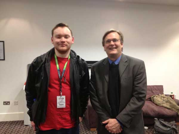 LAN Chief Editor Joe Clancy with Professor Tim Beatley, one of the key speakers at the event