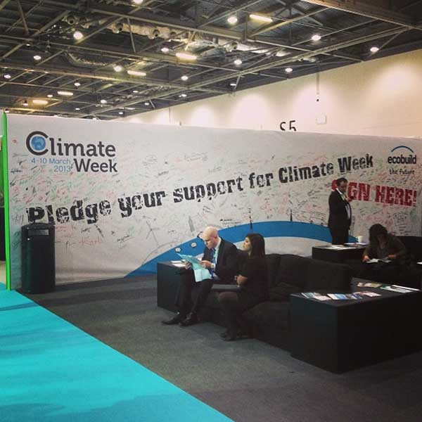Ecobuild aimed to get 1,000 signatures in support of climate week