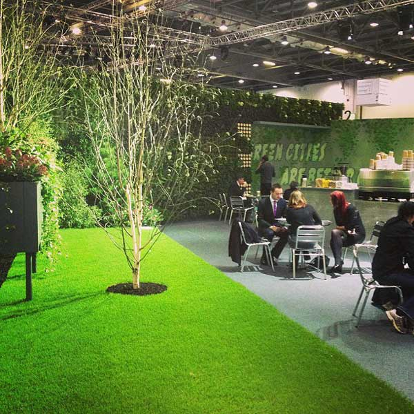 The Ecobuild Arena was a welcome respite for weary attendees
