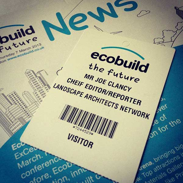 "The one and only criticism i have of Ecobuild is this........they spelt ""Chief"" wrong. #Fail"