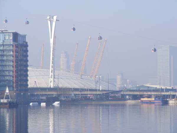 The London Docklands hosted Ecobuild this year, with the Millennium Dome in clear view from the venue