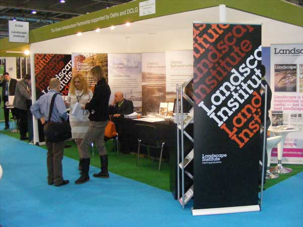 Sue Illman, LI President, and the Landscape Institute were out in force at Ecobuild
