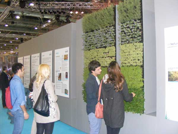 Numerous green wall displays & sustainable technologies attracted interest from many attendees