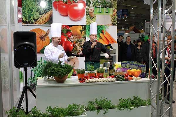 Vilmorin products cooking show, credit: Marta Ratajszczak