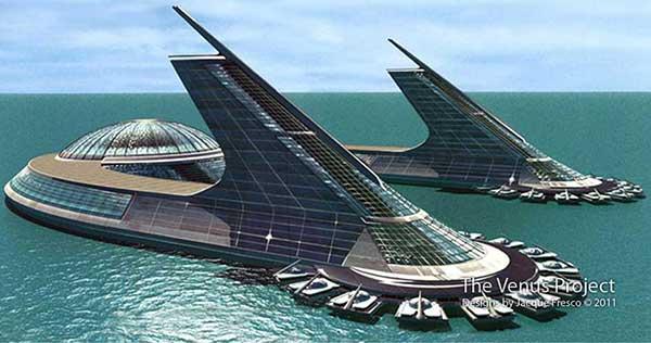 Coastal city rendering