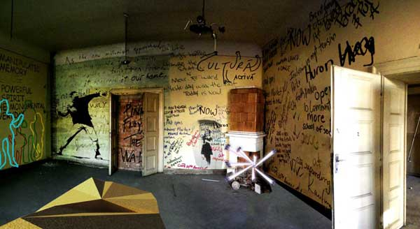 "Leave your mark in ""The Scratched Room"""
