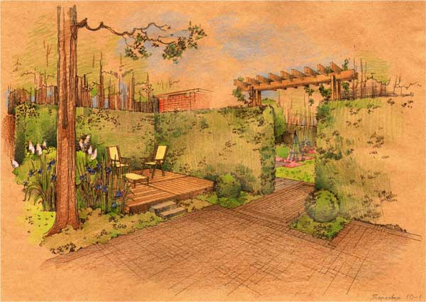 From MOX landscape architects from St.Petersburg, Russia. Sketches made by their lead architect Yury Fomenko.