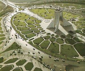 """Creative Commons Azadi Square, Tehran, Iran"". Source  https://travel.webshots.com/photo/1000135519000131611,  licensed under CC"
