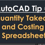 TechBeat Tuesday – AutoCAD Tip #5: Quantity Takeoff and Costing Spreadsheet