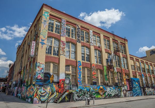 "5 Pointz Aerosol Arts Center, Inc. on September 11, 2013 in New York.5 Pointz, considered to be the world's premiere ""Graffiti Mecca"" credit: BrooklynScribe / shutterstock.com"