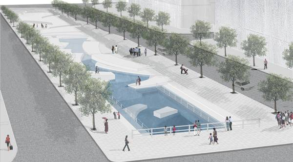 The winning proposal fro The Chon Gae Canal by Mikyoung Kim Design