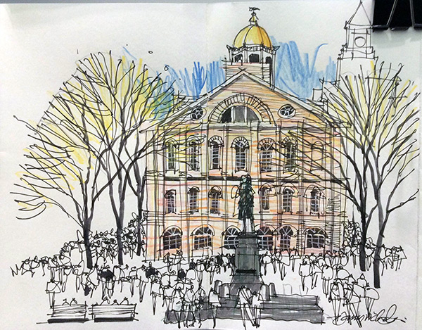 Sketchy Saturday | Faneuil Hall Alive by James Richards