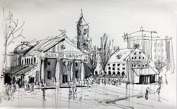 Sketchy Saturday | Quincy Market by Brian Goad