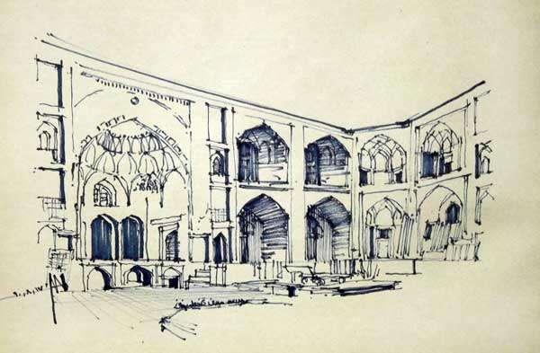 Sketchy | The boys' school in Kerman