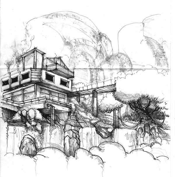 Sketchy | Fallingwater residence