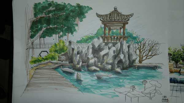 sketchy | Chinese traditional garden