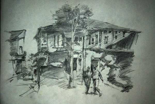 Sketchy | Cityscape in Rasht