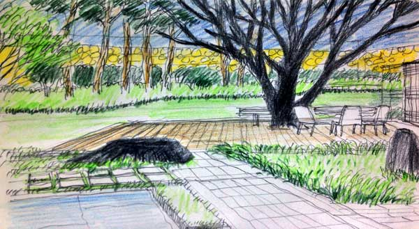 Sketchy | Private garden in Han-nam dong in Seoul