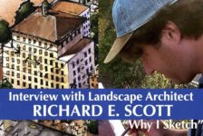 Interview with Landscape Architect Richard E. Scott — Why I Sketch