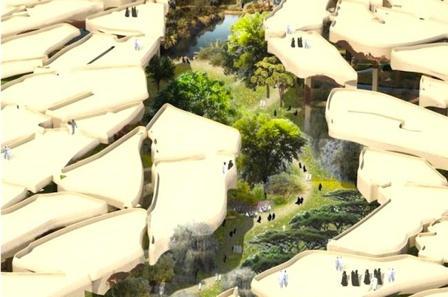 Heatherwick Studio Submerges an Oasis-Like Park Under Abu Dhabi's Cracked Desert Floor