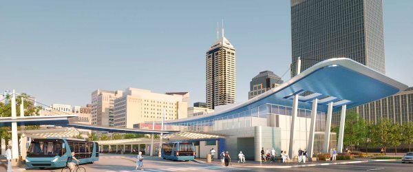Caption: New downtown transit center (scheduled to open late 2015) Credit: IndyGo