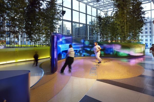 Children interacting with Crown Sky Garden ; credit: Mikyoung Kim Design