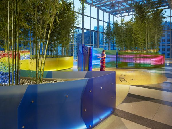 Colors used to great effect at the Crown Sky Garden; credit:  credit: Mikyoung Kim Design