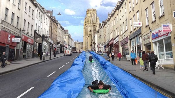 Mock up of Park street, Bristol - Park and Slide