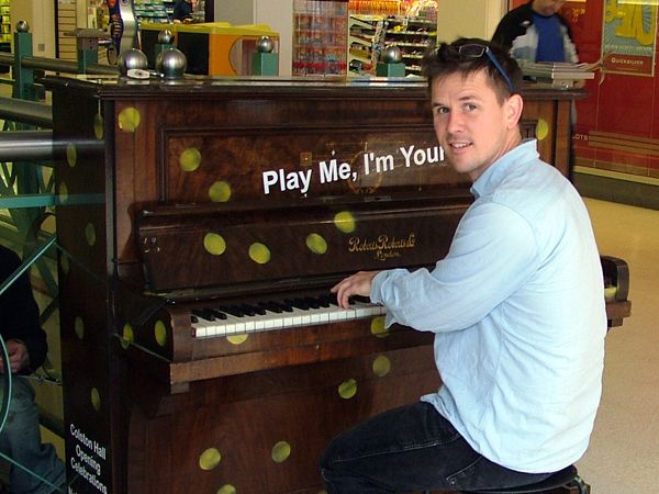 """""""Play Me, I'm Yours"""", exploring the creativity of others, credit: Photograph by Luke Jerram"""