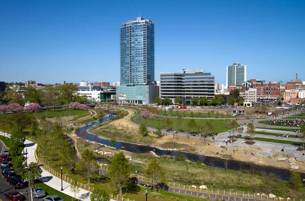 Mill River Park and Greenway; image © OLIN / Sahar Coston-Hardy