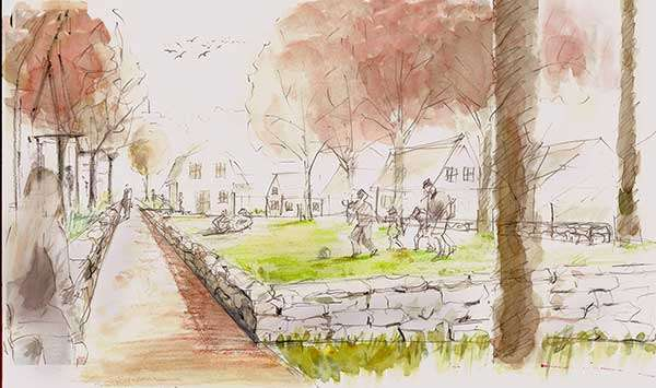 A community green space for Fieldstone Farm Village
