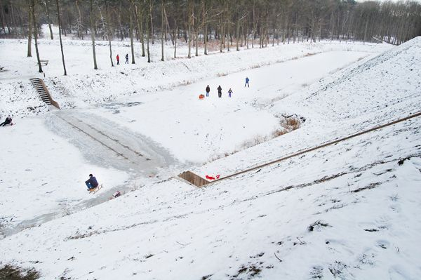 Moses Bridge in the snow; credit: RO&AD Architecten