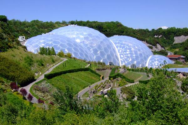"""Creative Commons   The iconic bio-domes of the Eden Project, Cornwall, England"". Source  Flickr as The Biomes, by Jon licensed under CC 2.0"