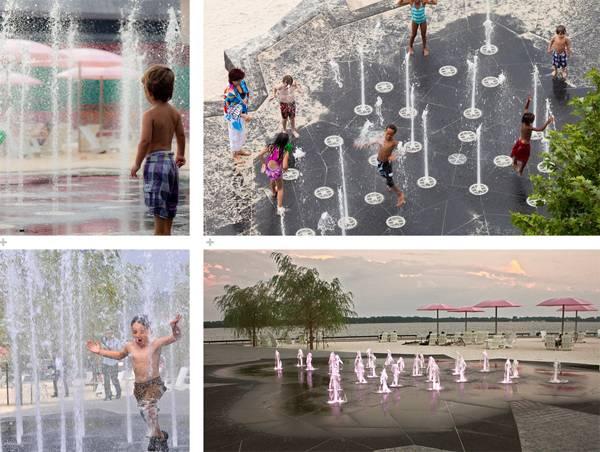 Water fountains at Sugar Beach; credit: www.claudecormier.com