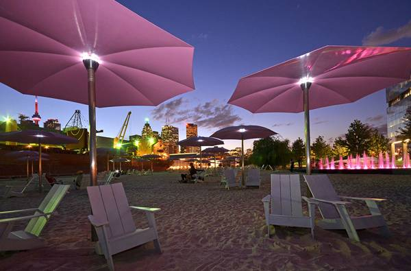 Sugar Beach at night; credit: www.claudecormier.com