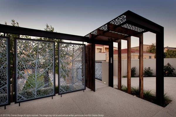 Laser cut fence. Credit: Ritz Exterior Design
