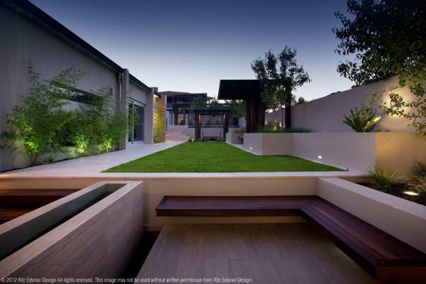 Planting on the Bicton project. Credit: Ritz Exterior Design