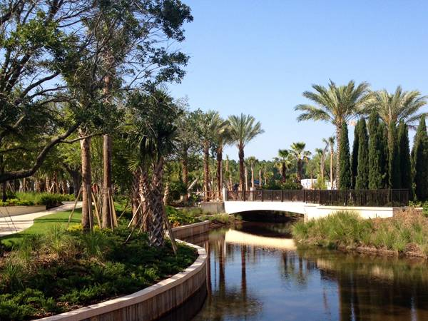 Bridge over stream at Four Seasons Orlando. Credit: EDSA