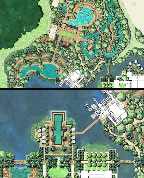 Edsa completes landscape design for four seasons resort for Hotel landscape design