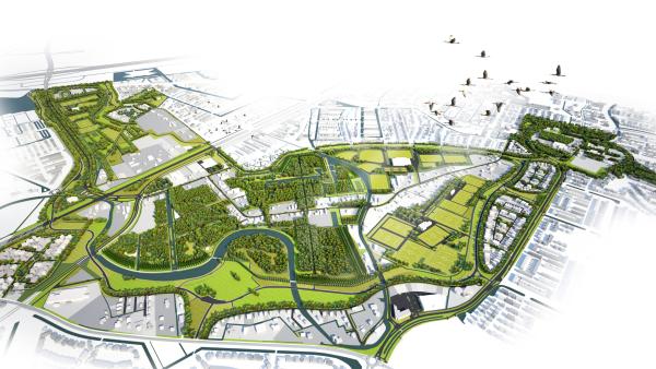 Master plan of Pergola Park. Credit: West 8