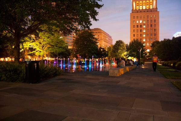 Led lit water fountains. Photo credit: Cameron Rodman