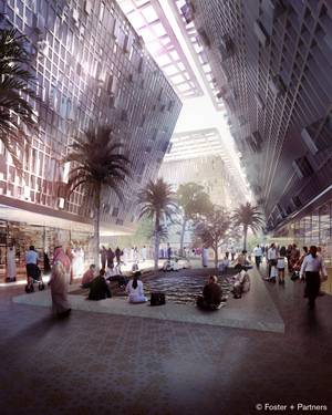 Masdar city. Credit: Foster + Partners