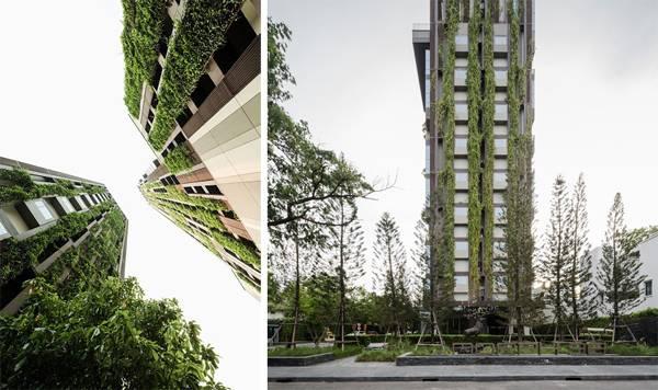 Green facade.Photo Credit: Wison Tungthunya, Santana Petchsuk, Chaichoompol Vathakanon