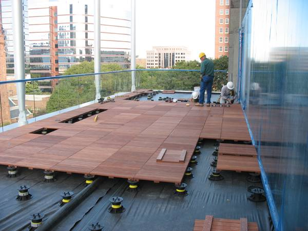 Deck flooring going down.  Credit: Perkins + Will.