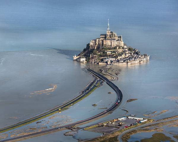 Mont Saint Michel's bridge. Photo credit: Michael Zimmermann