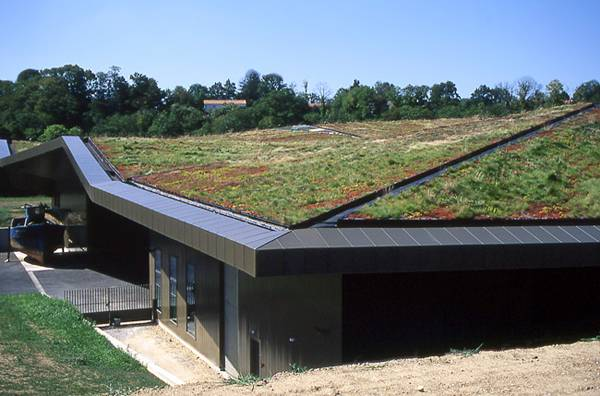 Extensive Green Roof at Vendée Historial, les Lucs. Credit: Public Domain